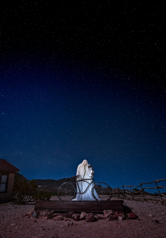 Ghost Rider at Night, Rhyolite, Nevada