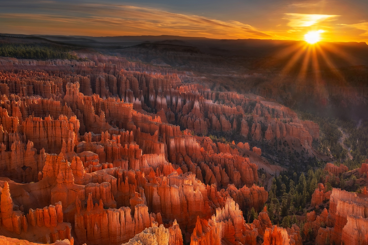 1807-O06-Dawn at Inspiration Point, Bryce Canyon-Dennis Ostgard