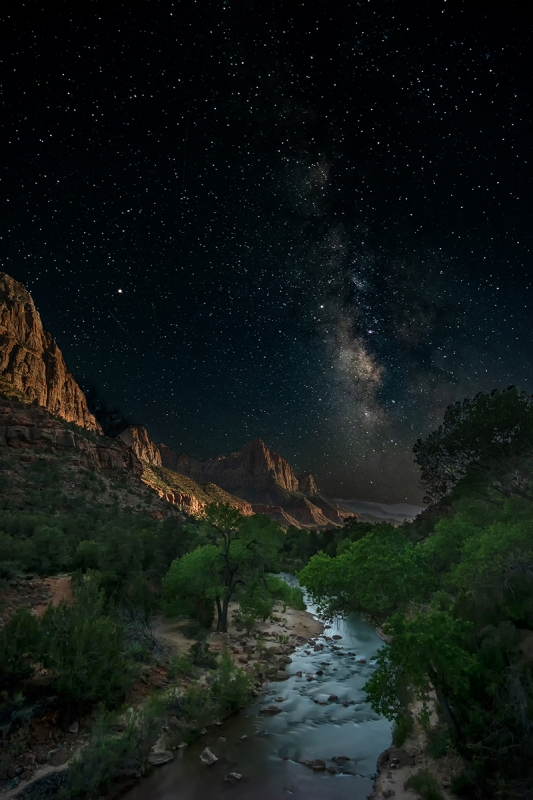 O24-The Watchman in Moonlight, Zion National Park-Dennis Ostgard